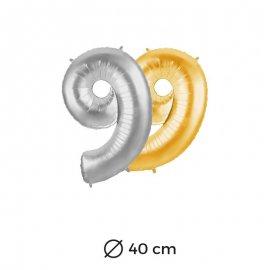 Ballon Nº9 Mylar 40cm