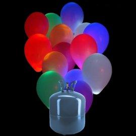 Bonbonne Helium Petite avec 30 ballons Led