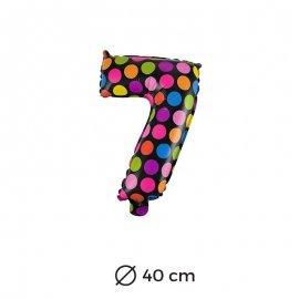 Ballon Numéro 7 à pois 40cm