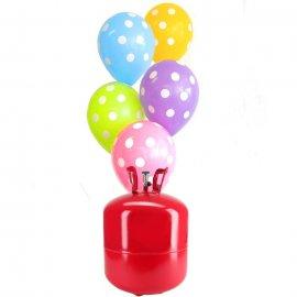 Bouteille Helium Grande avec 50 ballons à Pois
