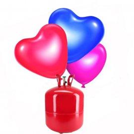 Bouteille hélium Grande avec 50 ballons Coeur