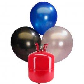 Bouteille hélium Grande avec 50 ballons Nacrés